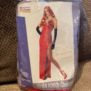 Jessica rabbit woman's Halloween costume w gloves